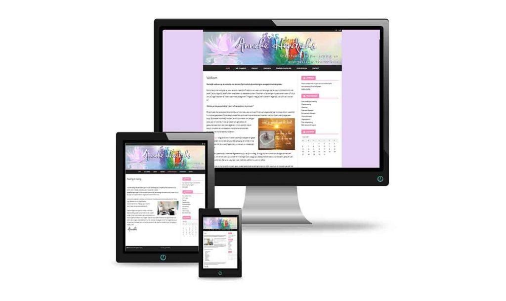 Anneke Hendriks spirituele healing website design ontwerp