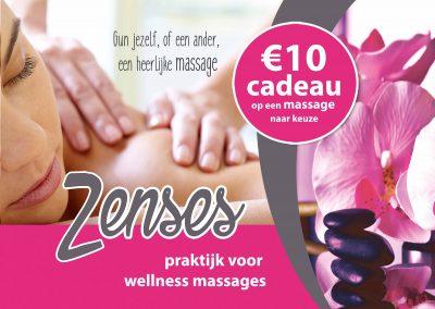 Flyer massagepraktijk Zenses Veenendaal