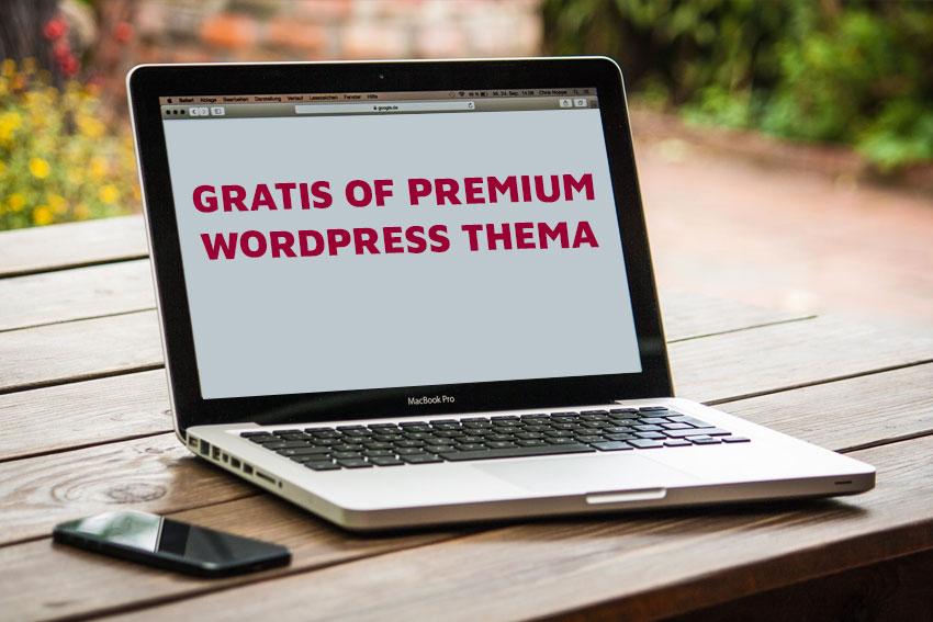 Premium WordPress thema of gratis?