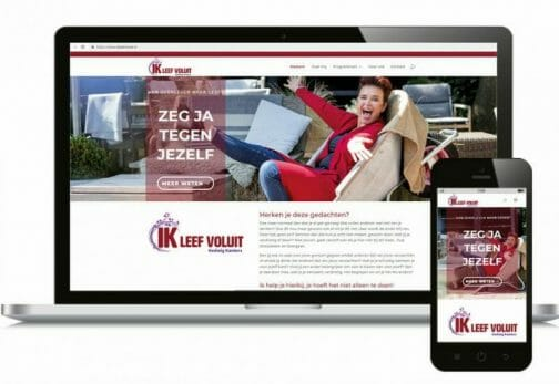 website Ik leef voluit in responsive design
