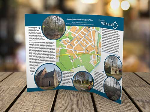 Folder wikkelvouw voor Wijkraad Mill-West