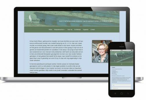 portfolio afbeelding van een webpagina van Veerkracht Mill op een computer en telefoon