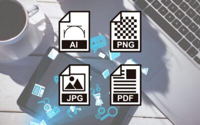 Het verschil tussen jpg, pdf, png, eps, ai