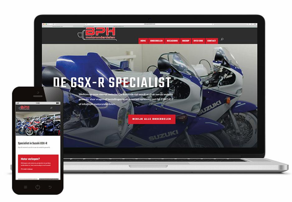 Website BPH-motoronderdelen Mill