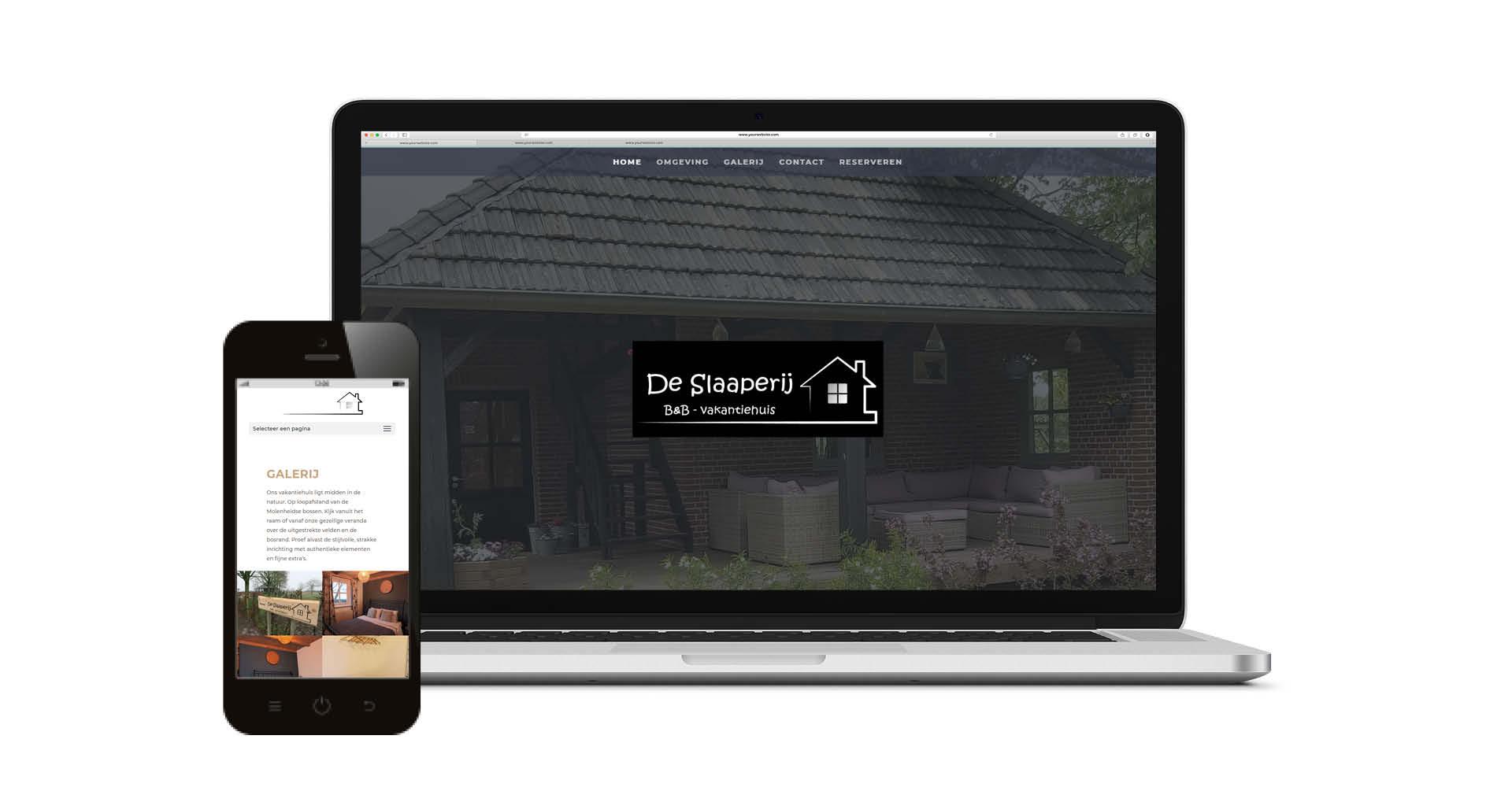 Website Bed and Breakfast vakantiehuis De Slaaperij