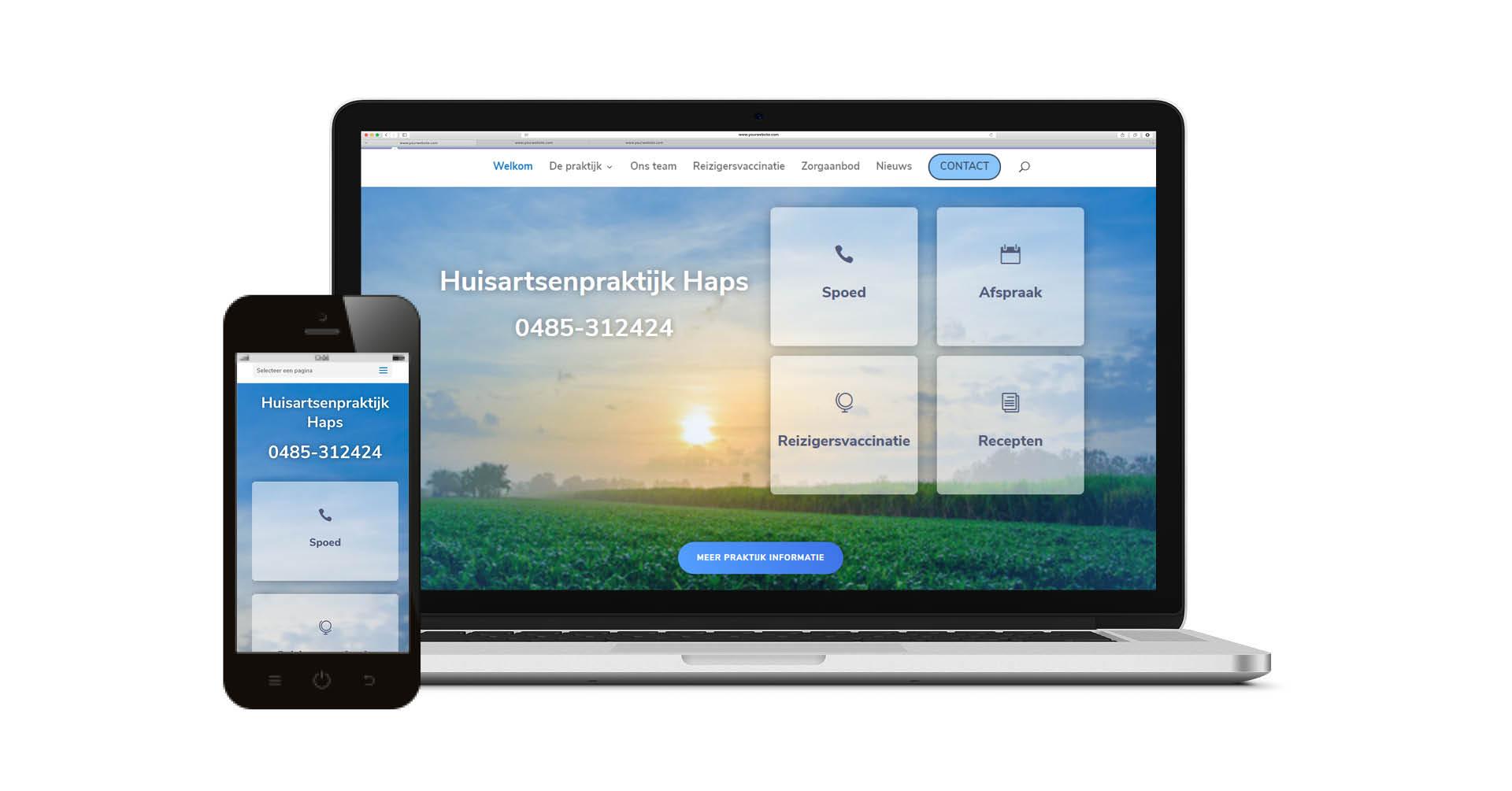 Website voor Huisarts Haps