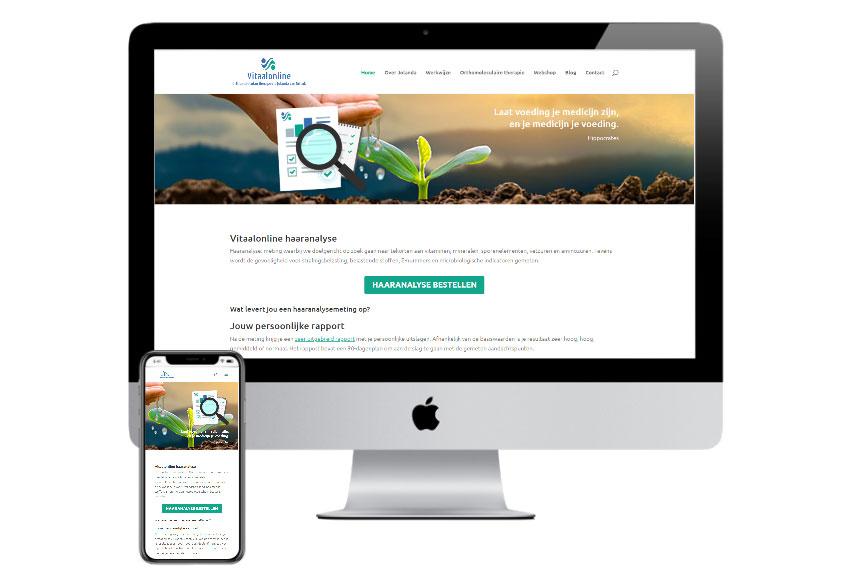 Website voor gezondheid Vitaalonline