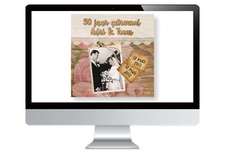 Op zoek naar ontwerper voor uitnodigingen 50 jarige bruiloft met foto