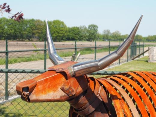 stier voor kunstroute Ontdek Mill project 'de koe'
